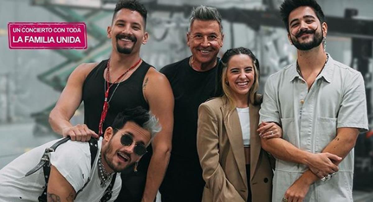 Ricardo Montaner y su familia se preparan para su primer concierto juntos
