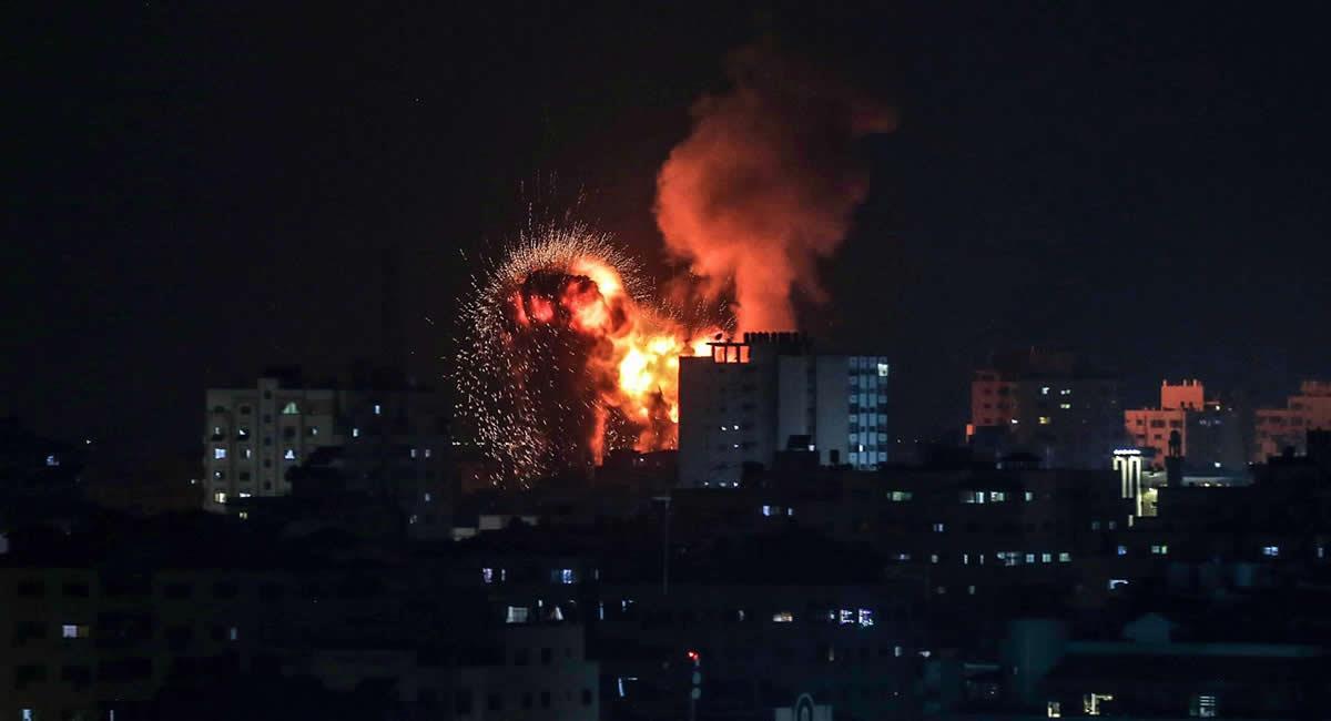 Ataques israelíes en Gaza. Foto: EFE
