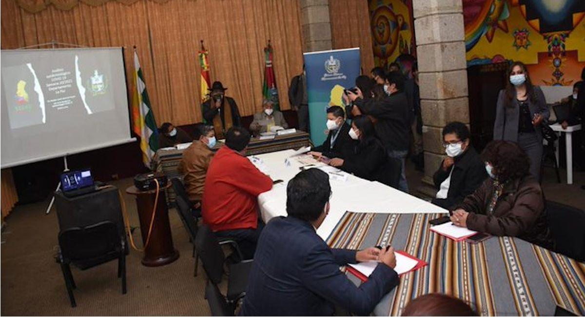Reunión del COED La Paz. Foto: ABI
