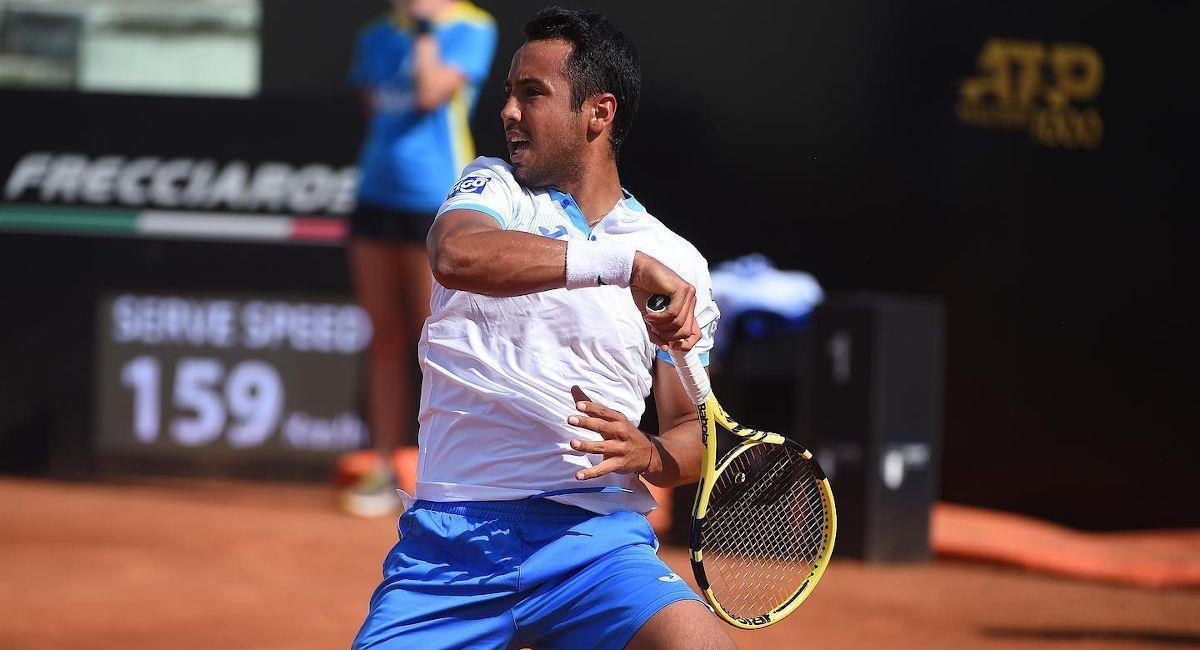 El tenista boliviano Hugo Dellien. Foto: Facebook Hugo Dellien