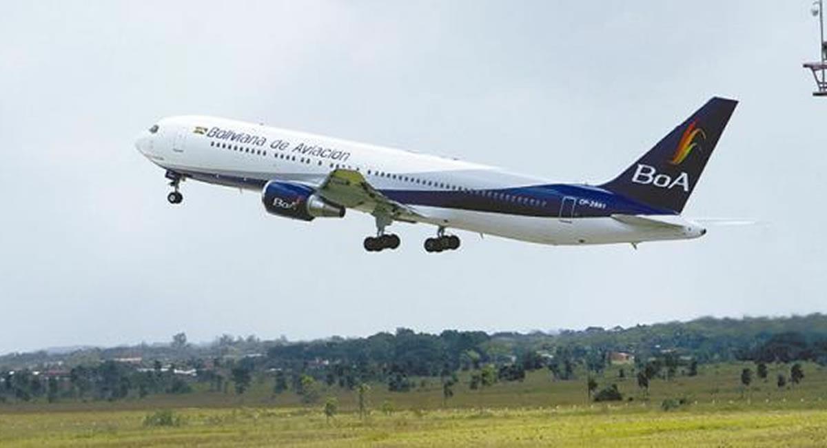 La empresa estatal Boliviana de Aviación (BoA) retomará los vuelos desde y hacia Potosí. Foto: ABI
