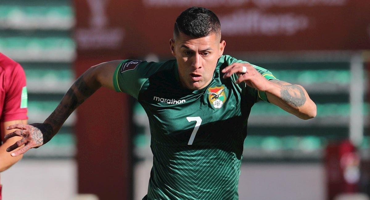 El jugador Juan Carlos Arce de Bolivia. Foto: EFE