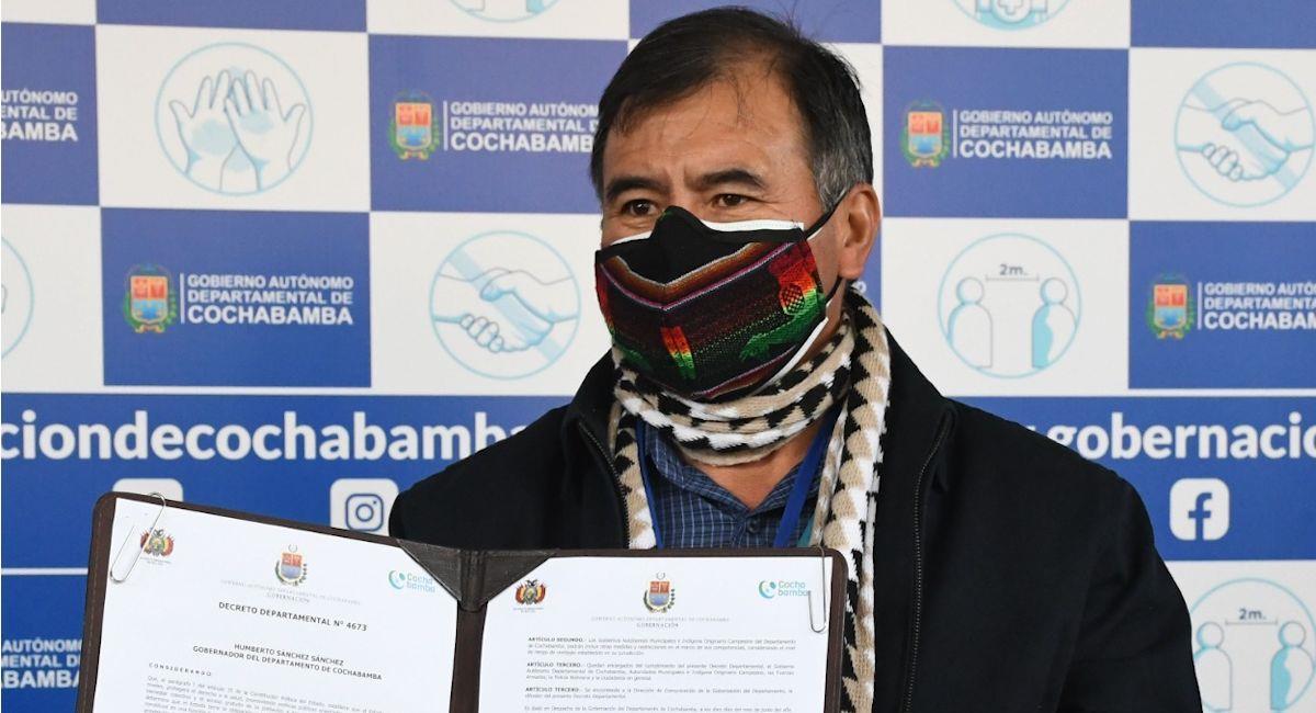 El gobernador de Cochabamba, Humberto Sánchez. Foto: ABI