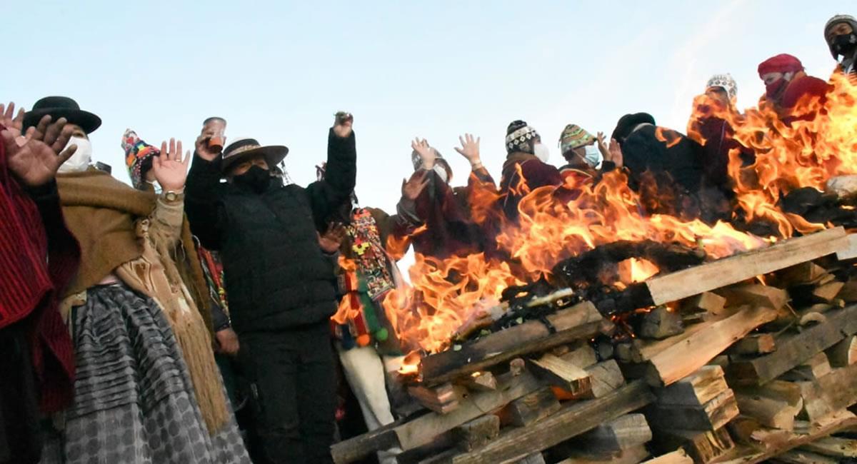 Celebración del Año Nuevo Andino Amazónico y del Chaco. Foto: ABI