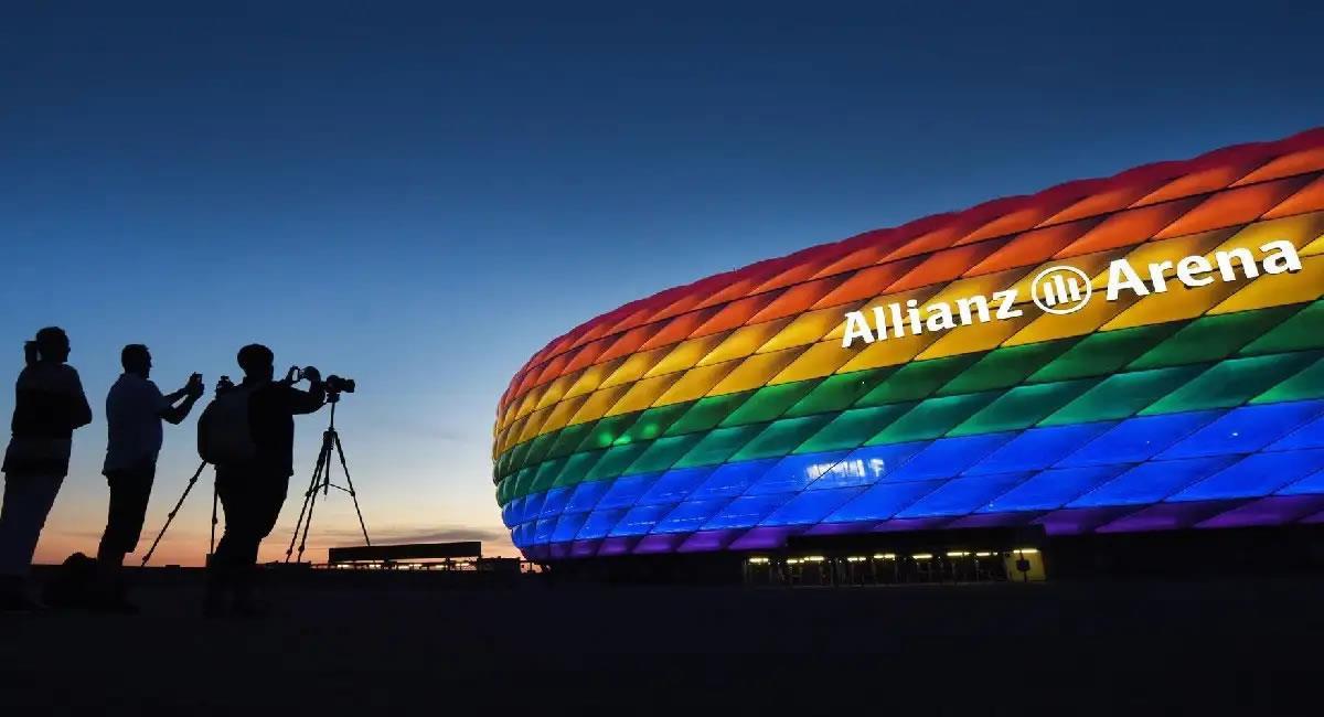 Estadio Allianz Arena de Alemania-Hungría. Foto: EFE