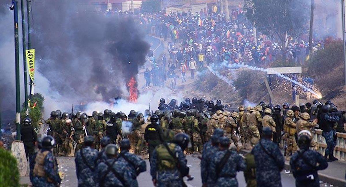 Protestas durante la crisis política de 2019. Foto: ABI