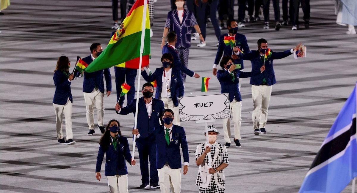 Delegación de Bolivia en los Juegos Olímpicos. Foto: EFE