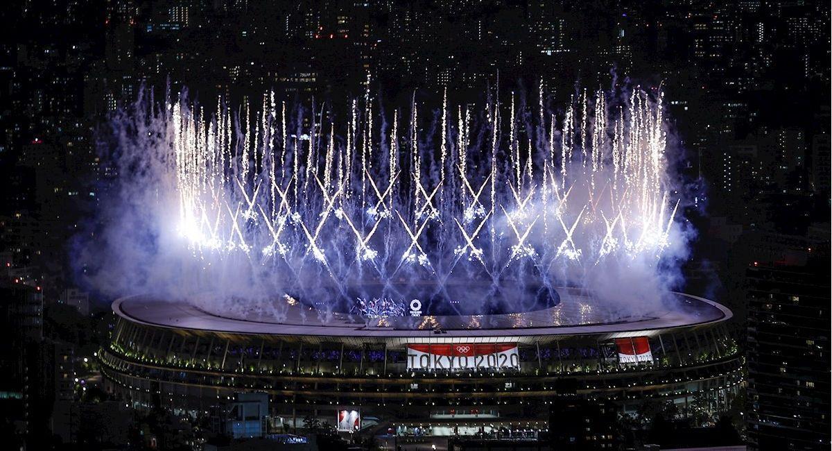 Ceremonia inaugural de los Juegos Olímpicos de Tokio 2020. Foto: EFE