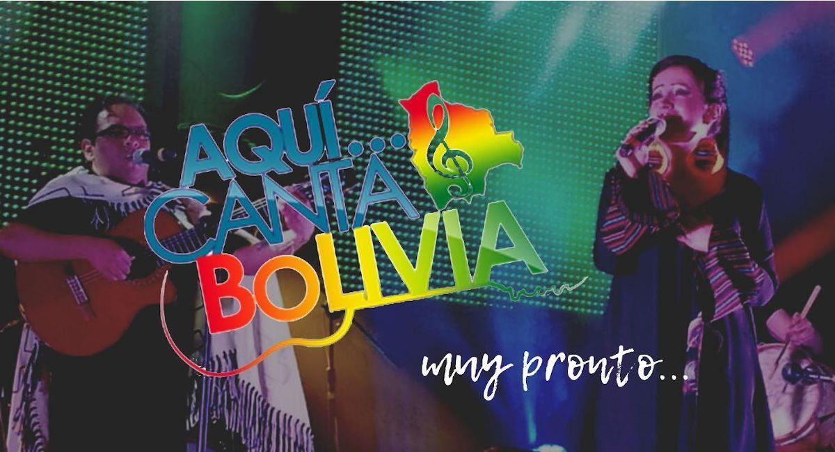 """Lanza Festival Nacional """"Aquí Canta Bolivia"""". Foto: Facebook Festival Nacional Aquí Canta Bolivia"""