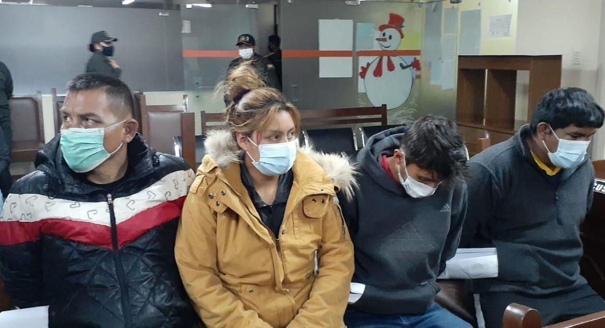 Presuntos atracadores a librecambistas. Foto: Facebook Diego Viamont
