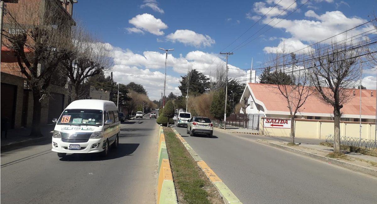 Oruro amplió los horarios de circulación. Foto: ABI