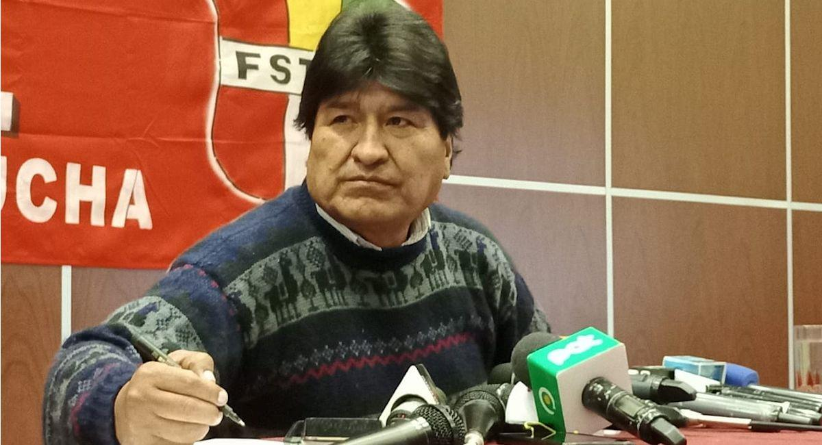 El expresidente de Bolivia, Evo Morales. Foto: ABI