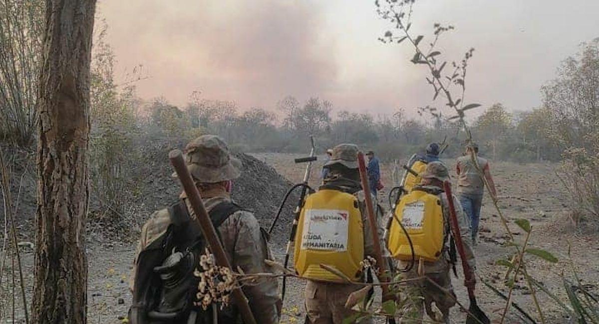 Incendios en Santa Cruz. Foto: ABI
