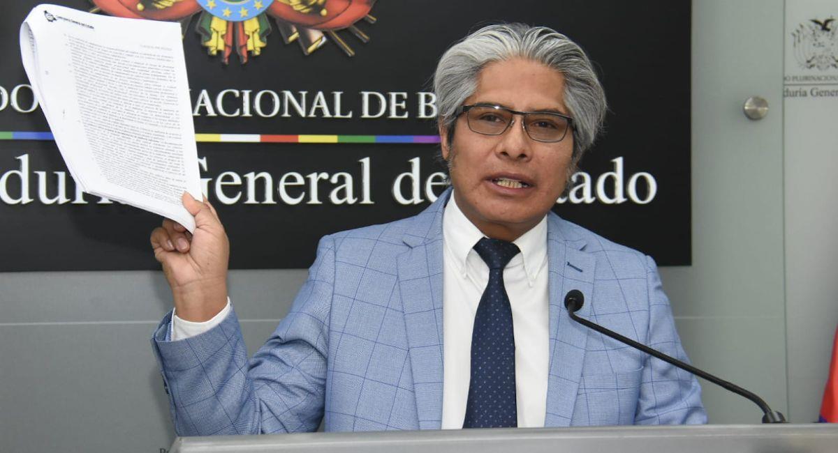 El procurador general del Estado, Wilfredo Chávez. Foto: ABI