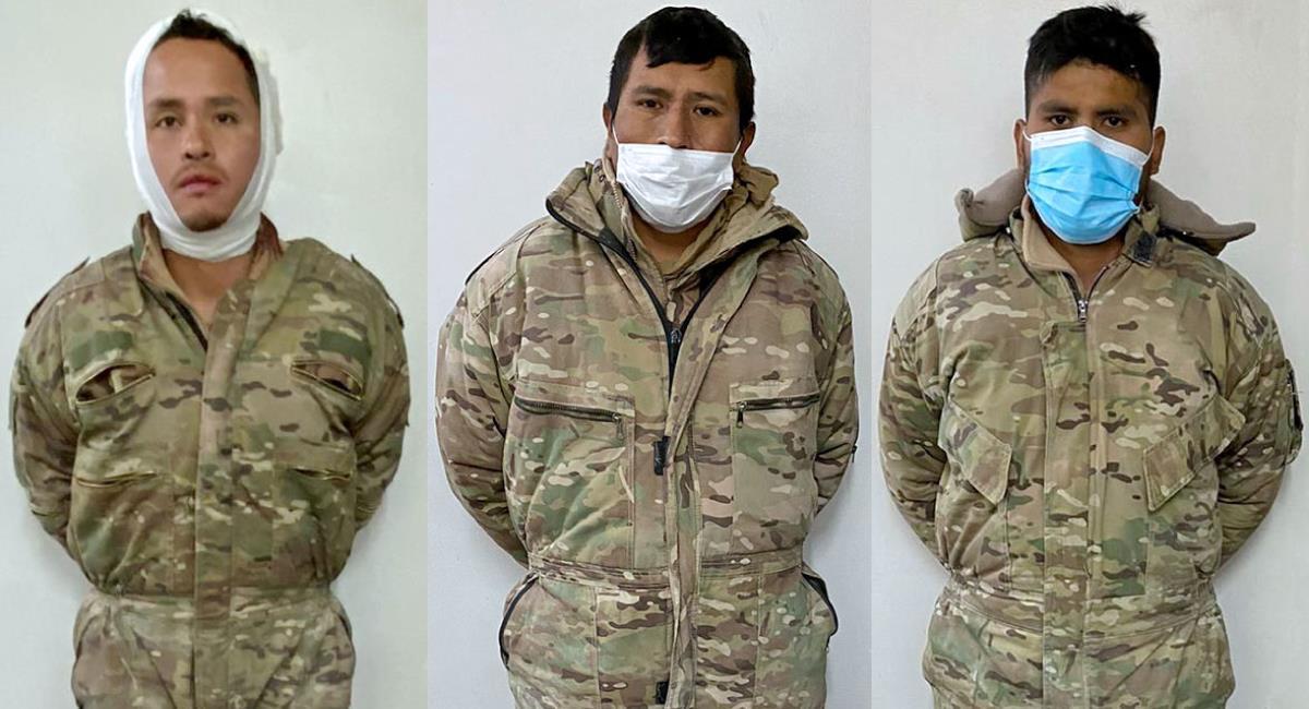 Justicia chilena envía a la cárcel con detención preventiva a los tres militares bolivianos detenidos el 8 de septiembre. Foto: Twitter @BeatrizCahuasa1