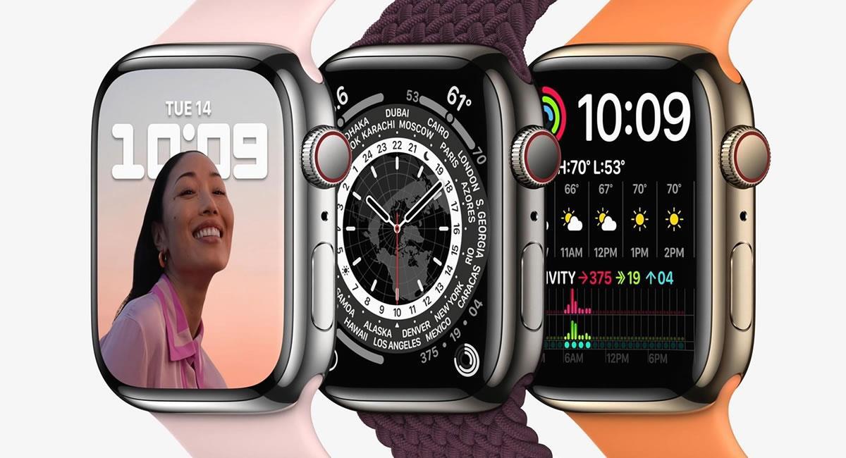 El Apple Watch Series 7 estará disponible en cinco colores. Foto: EFE