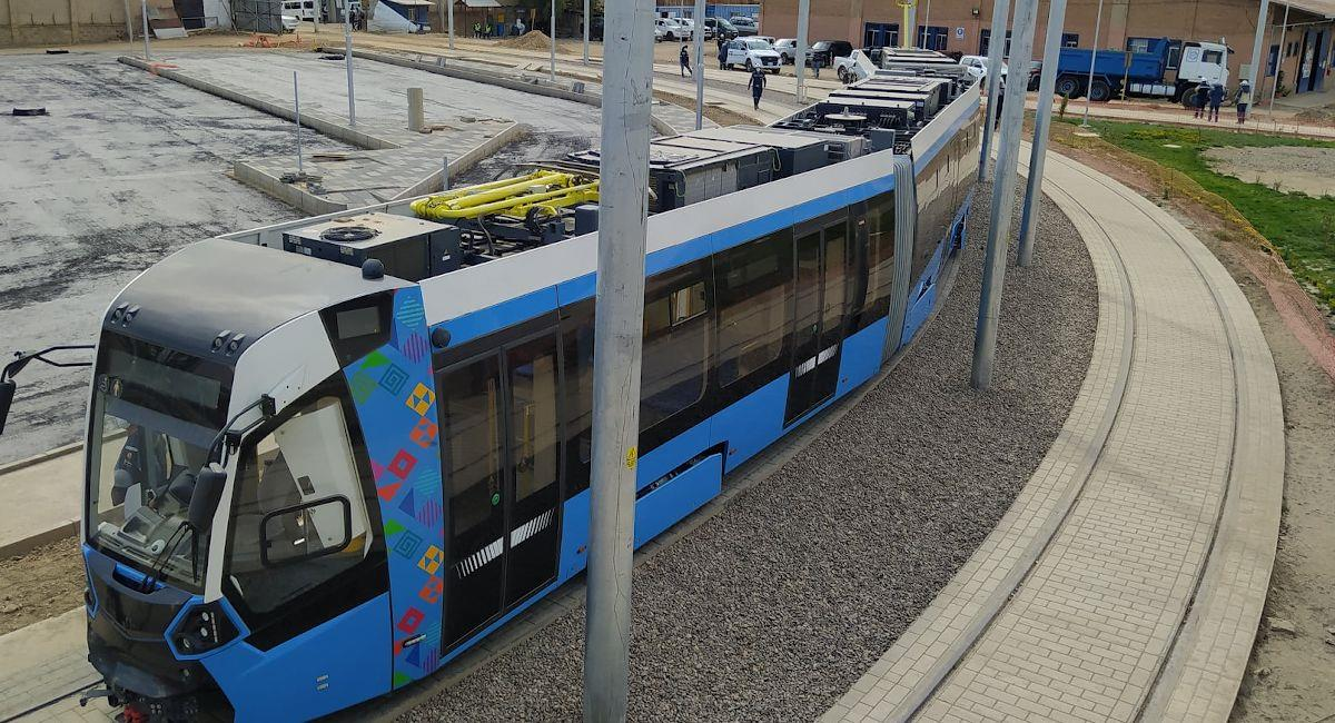 Tren Metropolitano de Cochabamba. Foto: ABI