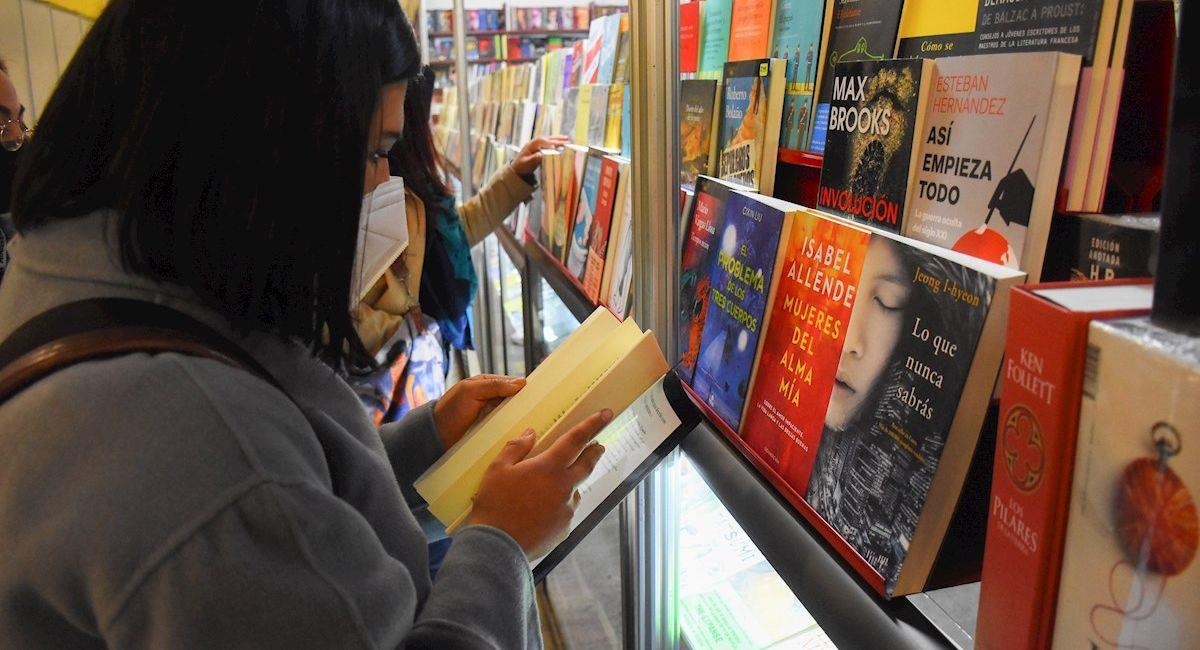 Feria Internacional del Libro de La Paz. Foto: EFE