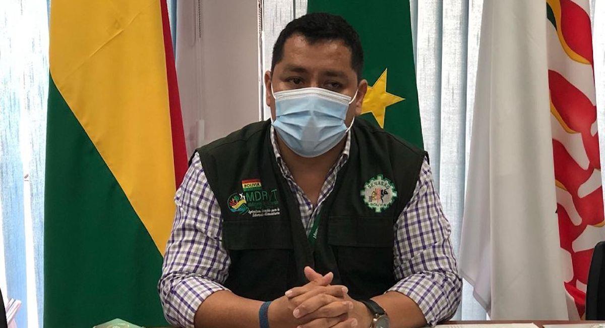 El director general del Senasag, Patrick Nogales,. Foto: ABI