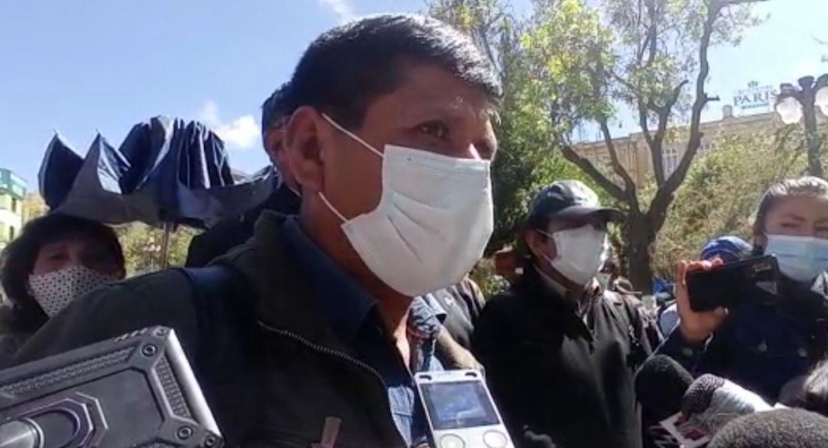El vocero del MAS en La Paz, Eddy Loza. Foto: ABI