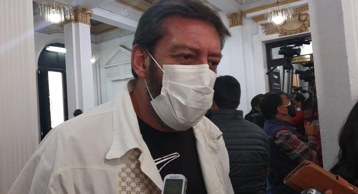 El presidente del Parlamento Andino, Adolfo Mendoza. Foto: ABI