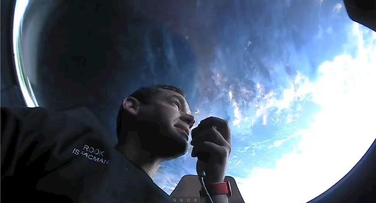 El multimillonario Jared Isaacman, miembro de tripulación de la misión Inspiration4. Foto: EFE