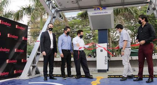 Inauguran primera estación de servicio para vehículos eléctricos en Santa Cruz