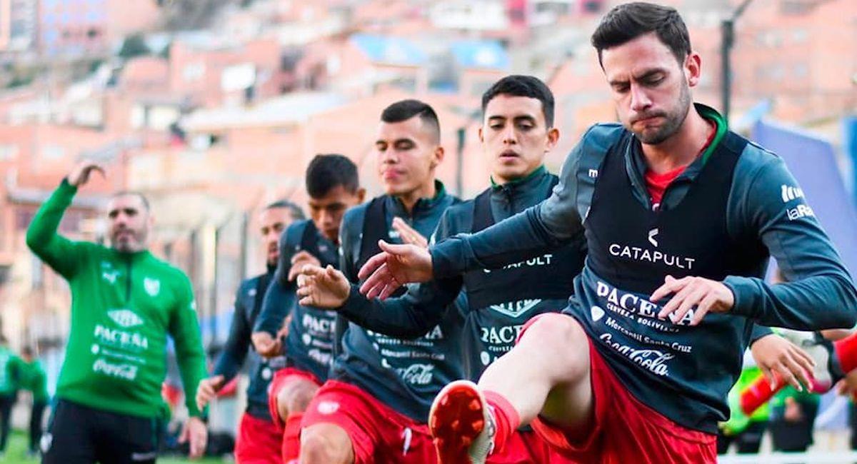 Entrenamiento de la selección boliviana. Foto: Facebook @laverdefbf