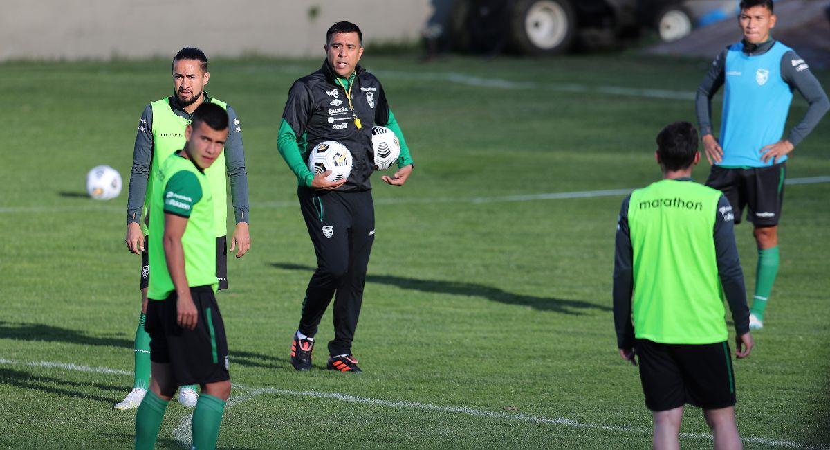 Entrenamiento de la selección boliviana. Foto: EFE